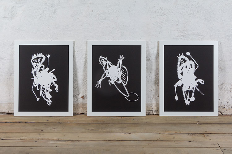 Random Monster Series | 3 Giclée Prints